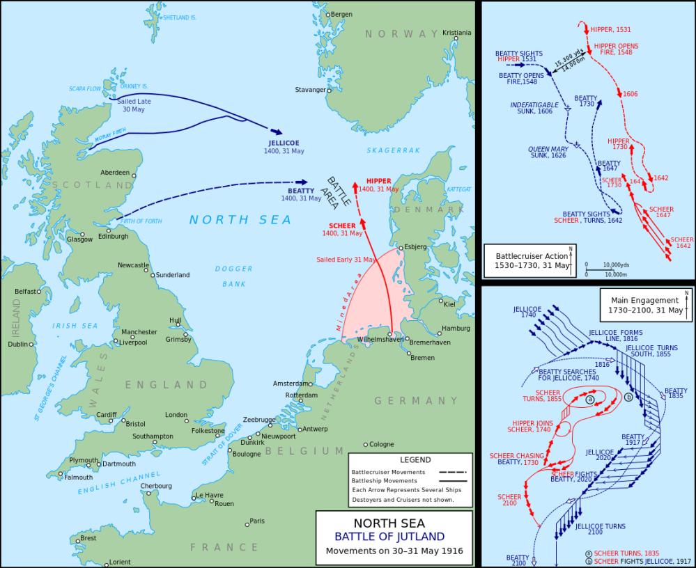Χάρτης ναυμαχίας Γιουτλάνδης_πηγή wikipedia