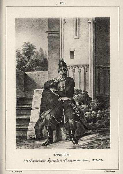 Αξιωματικός του Τάγματος 1778- 1796