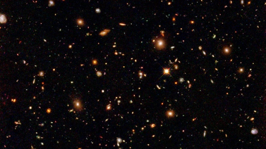 Hubble Ultra Deep Field The Hubble Deep Field surveys will likely be thought of as Hubble's most lasting science legacy. These observations continue to supply a wealth of understanding about the universe as a whole, the evolution of galaxies, and other fundamental information. Of these images the Hubble Ultra Deep Field (HUDF) is a favorite. It produces a strong feeling of depth, almost vertigo, to appreciate that we are looking at nearly the entire sweep of the cosmos filled by a seemingly infinite number of immense galaxies.
