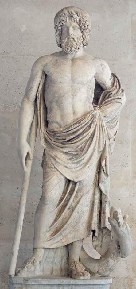 Ασκληπιός_Ρωμαϊκό αντίγραφο εκ του αρχικού το οποίο είχε φιλοτεχνηθεί από τον Τιμόθεο τον 4ο αι. π.Χ_μουσείο Λούβρου