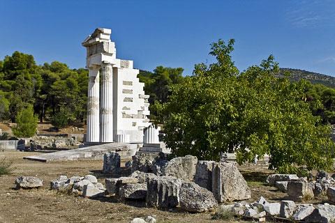 Τμήμα ναού του Ασκληπιού_Επίδαυρος