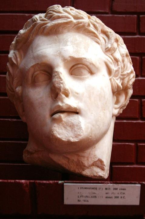Λυσίμαχος_μαρμάρινη προτομή_μουσείο Εφέσσου