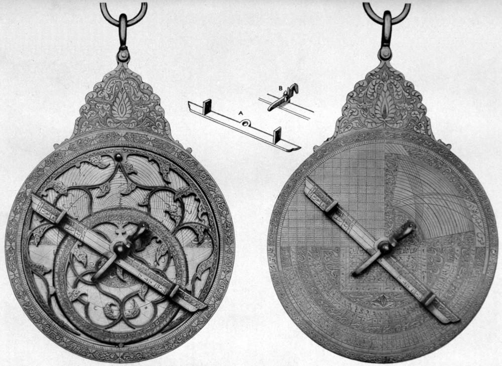 Περσικός αστρολάβος του 1712