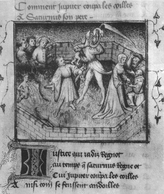 Ο ευνουχισμός του Κρόνου και η γέννηση της Αφροδίτης (αριστερά) [wikipedia]