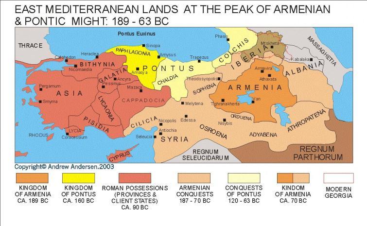 Ανατολικά εδάφη κατά την περίοδο ακμής του Πόντου