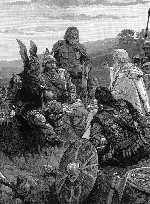 Ο Επίσκοπος Ουλφίλας κηρύττει το ευαγγέλιο στους Γότθους.