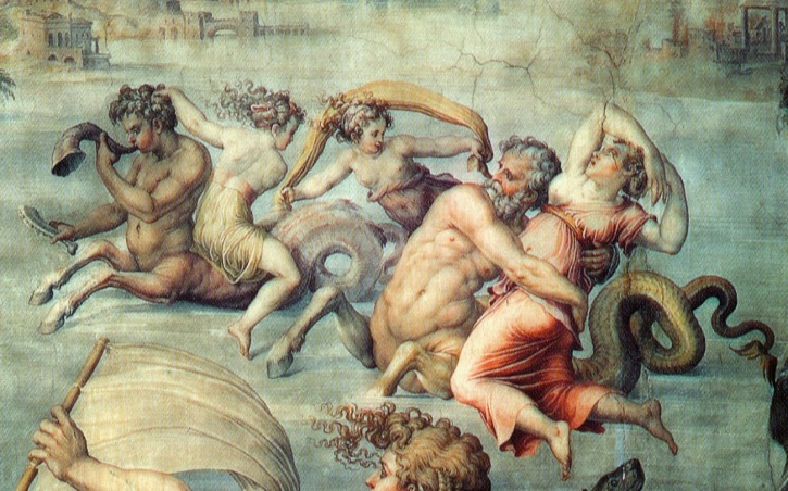 Ιχθυοκένταυροι σε τοιχογραφία στο Palazzo Vecchio, Φλωρεντία_Giorgio Vasari ,1511–1574