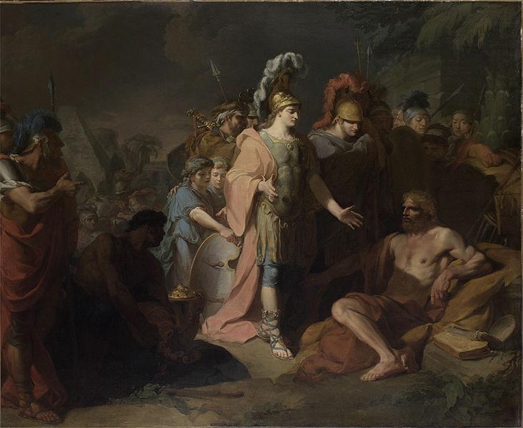 Ο Αλέξανδρος επισκέπτεται τον Διογένη_πίνακας του Jean-Baptiste_Regnault