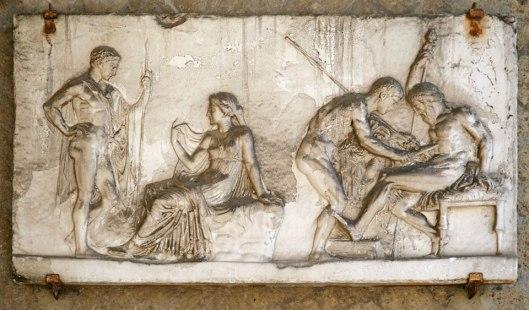 Ο Αχιλλέας θεραπεύει τον Τήλεφο με σκουριά από το δόρυ του_μουσείο Ερκολάνο Ιταλία