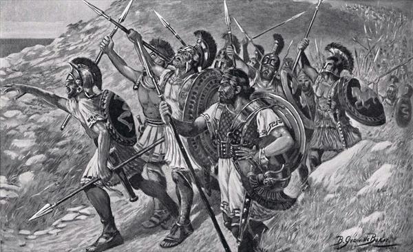 Οι Μύριοι αναφωνώντας Θάλαττα - Θάλαττα!!_ πίνακας του by Bernard Granville Baker, 1901