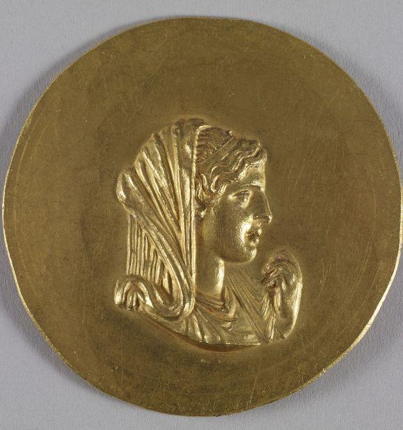 Ρωμαϊκό μετάλλιο εκδοθέν επί Καρακάλλα το οποίο απεικονίζει την Ολυμπιάδα.