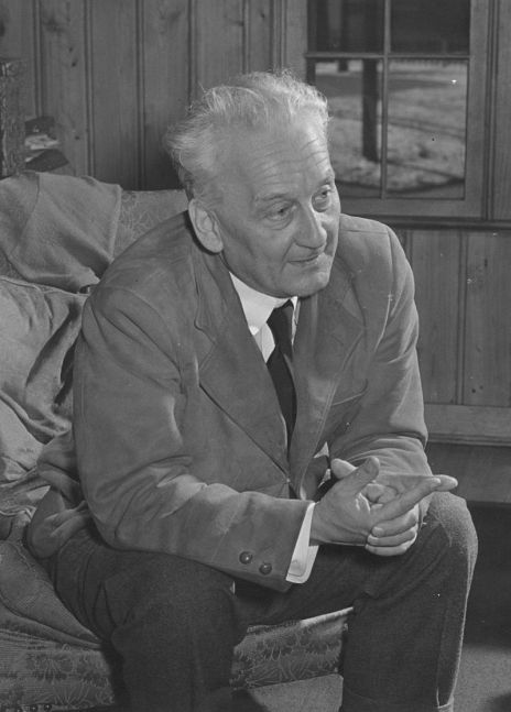 Portrait of Nobel Prize laureate Albert Szent-Györgyi when he was a research fellow at the National Institutes of Health from 1948 to 1950._wikipedia