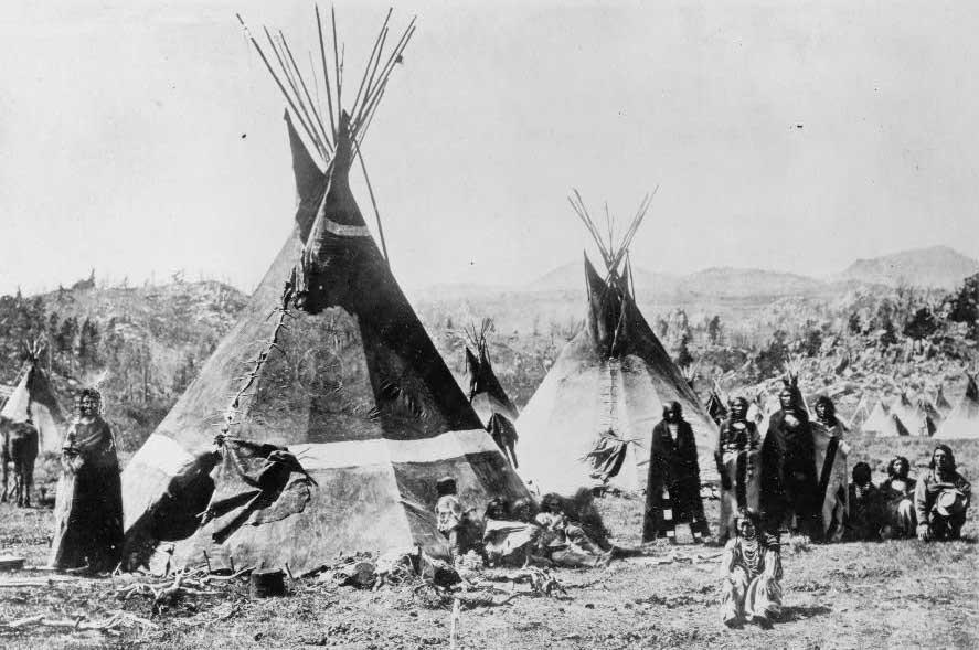 Καταυλισμός Shoshone στα the Wind River Mountains του Γουαϊόμινγκ _φωτο W. H. Jackson, 1870