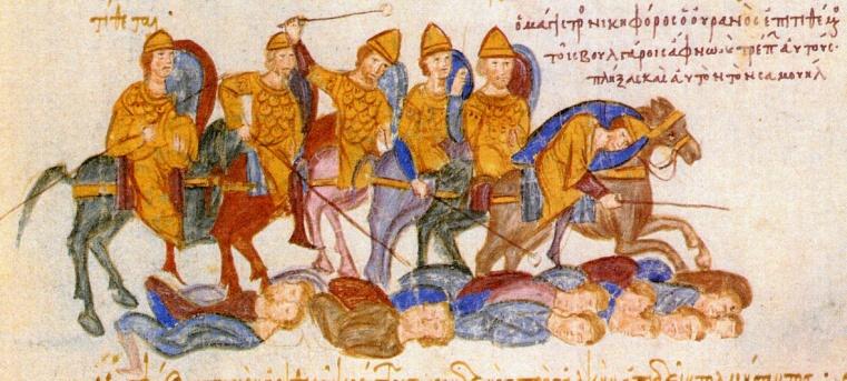 Χρονικό Ιωάννου Σκυλίτζη_Οι βυζαντινοί νικούν τους Βούλγαρους στην μάχη του Κλειδίου_πηγή wikipedia