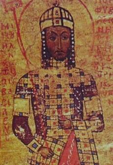 Aυτοκράτωρ Μανουήλ Α' Κομνηνός (1143-1180)_μικρογραφία χειρογράφου_Βιβλιοθήκη Βατικανού_Ρώμη