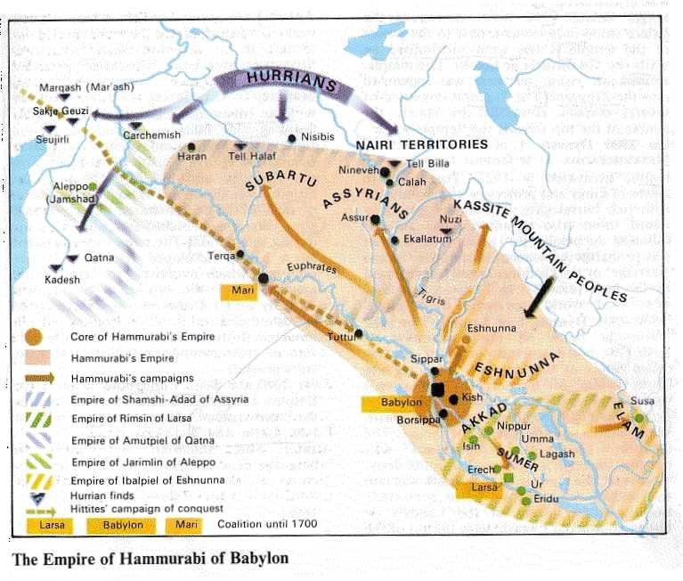 Το βασίλειο της βαβυλώνας επί Χαμμουραμπί_πηγή wikipedia