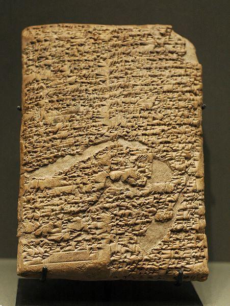 Πήλινη πινακίδα με εγγραφές των νόμων Χαμμουραμπί_1750 πΧ_μουσείο Λούβρου_πηγή wikipedia