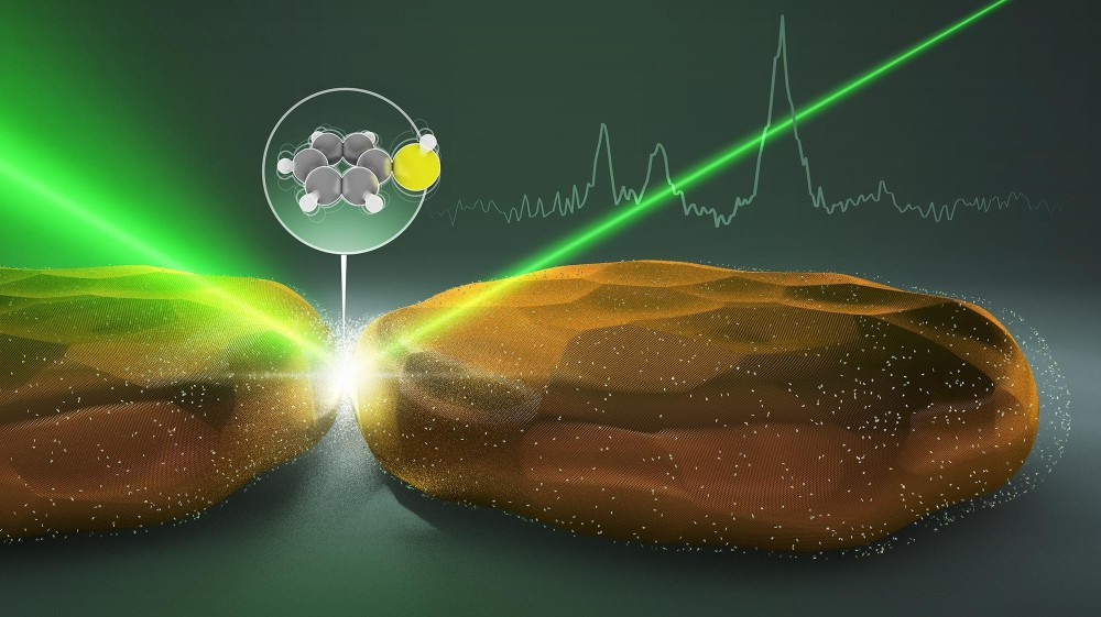 Light-mediated detection of a molecule N.Antille/EPFL