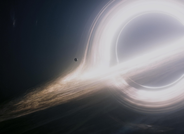 Warner Bros. Entertainment/Paramount Pictures Black holes such as the one depicted in Interstellar (2014) can be connected by wormholes, which might have quantum origins.