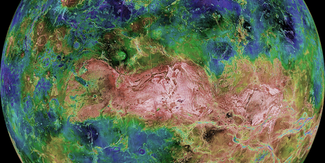 Venus as a model: Today this planet looks like the Earth might have looked before the onset of plate tectonics. (Image: Nasa/JPL)