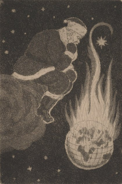Santa the Arsonist (Ralph Fabri to Dale Pontius, 1939. Dale Pontius papers relating to Ralph Fabri, 1935-1974. Archives of American Art.)