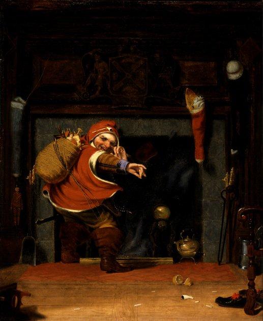 Mischievous Santa (Smithsonian American Art Museum)