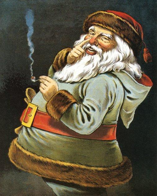 Smoking Santa (Image by PoodlesRock/Corbis)