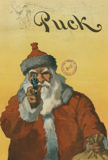 A Santa Holdup (Library of Congress Prints and Photographs Division)