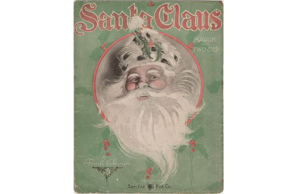 "1907 sheet music for the ""Santa Claus"" march composed by Fred Vokoun. (NMAH Archives Center, Sam DeVincent Collection of Illustrated American Sheet Museic)"