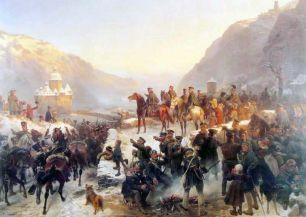 1814 Τα στρατεύματα του Πρώσσου στρατάρχη Μπλούχερ διαβαίνουν τον Ρήνο στο Kaub