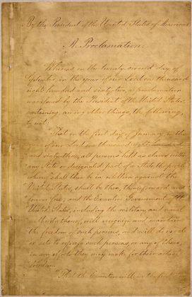 1863 Εκδίδεται από τον Αβραάμ Λίνκολν η Διακήρυξη Χειραφέτησης