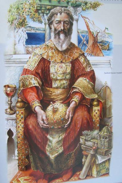 Μανουήλ Β' Παλαιολόγος_έργο του Emilian Stankev_βιβλίο Rulers of Byzantine Empire_Σόφια 2005