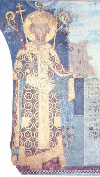 Στέφανος Λαζάρεβιτς, εικονογραφία στην Μονή Μανάγια