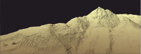 3D bathymetry image of the Von Damm Vent Field