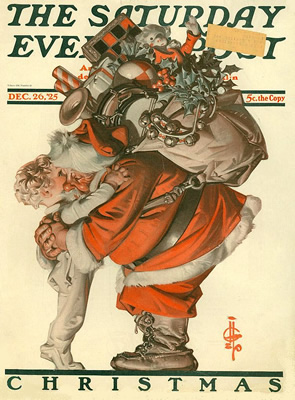 1925 J. C. Leyendecker Saturday Evening Post December 26, 1925 Copyright © 2002-2015 St. Nicholas Center