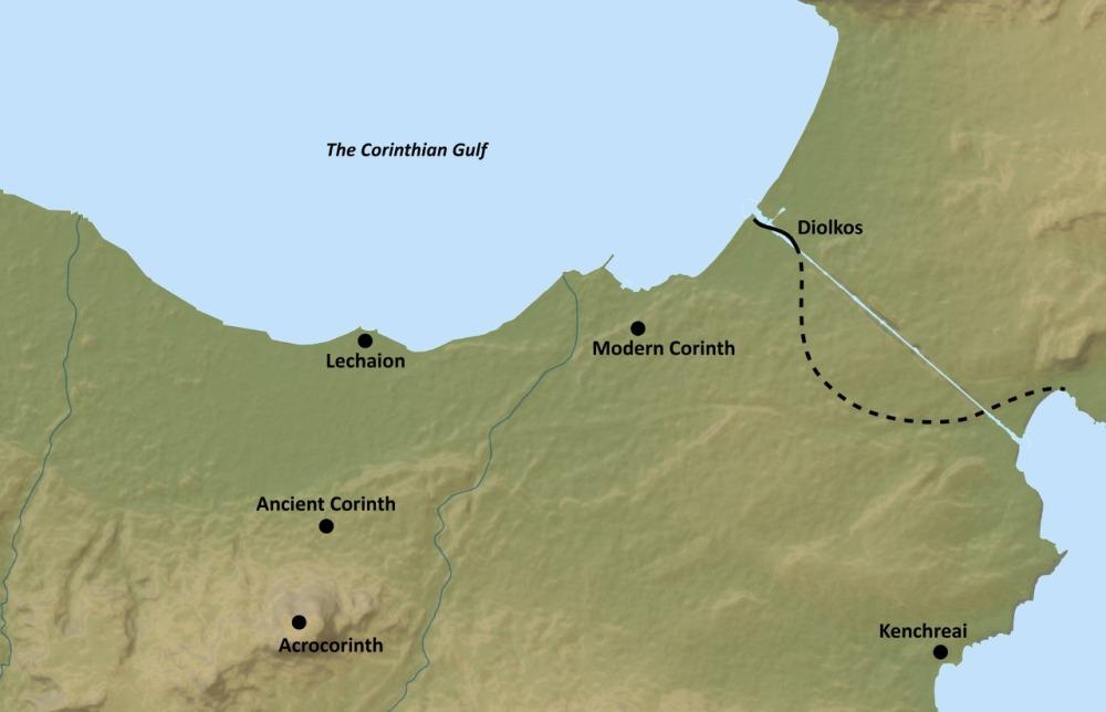 The Corinthian Gulf _basemap by ASCSA CC BY-SA 2015