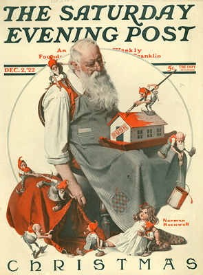 1922 Norman Rockwell Saturday Evening Post December 2, 1922 Copyright © 2002-2015 St. Nicholas Center