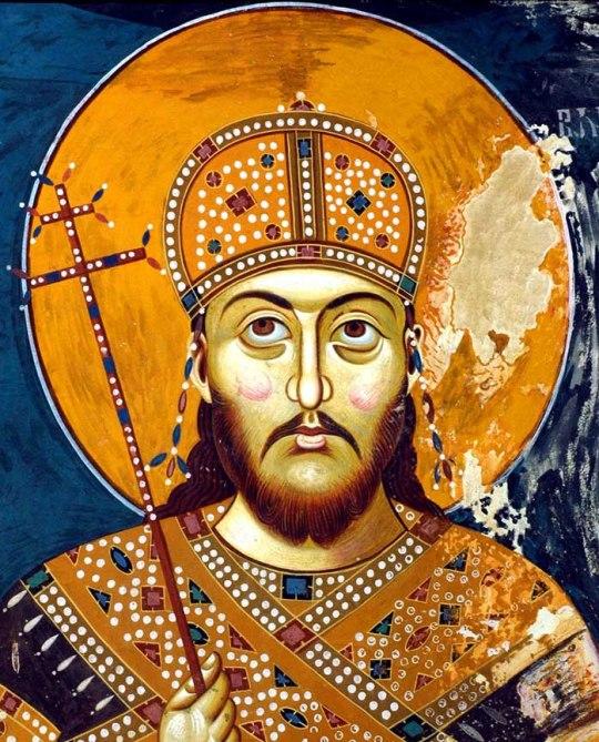 Σέρβος αυτοκράτορας_Stefan_Dušan_μωσαϊκό_Σκόπια