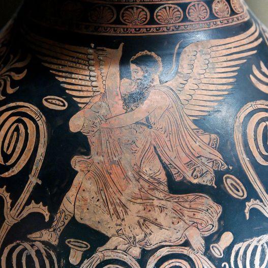Ο Βορέας απαγάγει την Ωρείθυια_λεπτομέρεια από ερυθρόμορφο οινοχόο της Απουλίας, περίπου 360 π.Χ_ μουσείο του Λούβρου