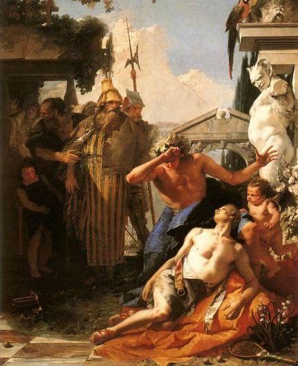 Ο Θάνατος του Υάκινθου, ελαιογραφία του Giovanni Battista Tiepolo(1752)