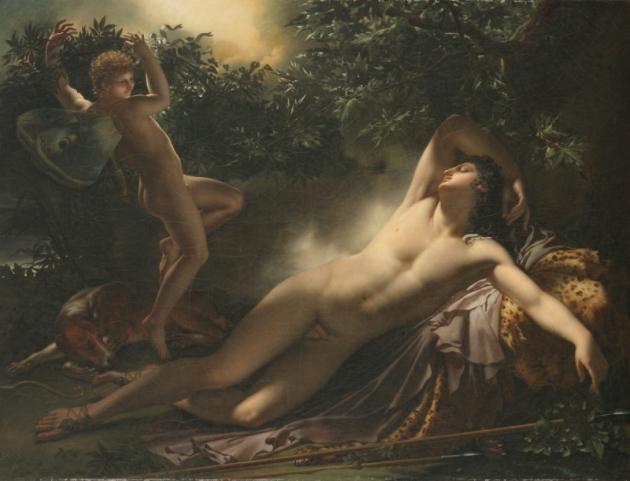 Ο ύπνος του Ενδυμίονα_Anne-Louis Girodet (1791), Musée du Louvre, Paris