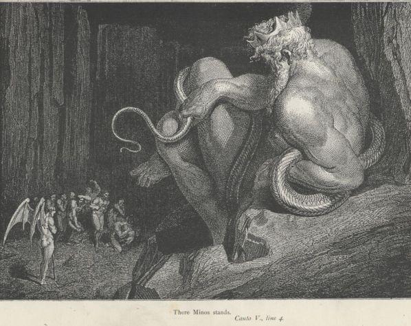 Απεικόνιση του Μίνωα_έργο του Gustave Doré από την Κόλαση του Δάντη
