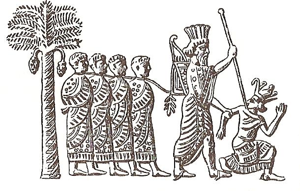 Ο Καμβύσης Β' ενώ συλλαμβάνει τον Φαραώ Ψαμμύτιχο_wikipedia