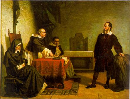 Πίνακας του Cristiano Banti του 1857 ο οποίος απεικονίζει τον Γαλιλαίο ενώπιον της Ρωμαϊκής Ιεράς Εξέτασης.