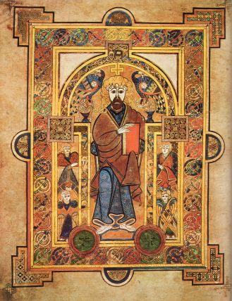 Σελίδα που απεικονίζει τον Ιησού Χριστό ενθρονισμένο