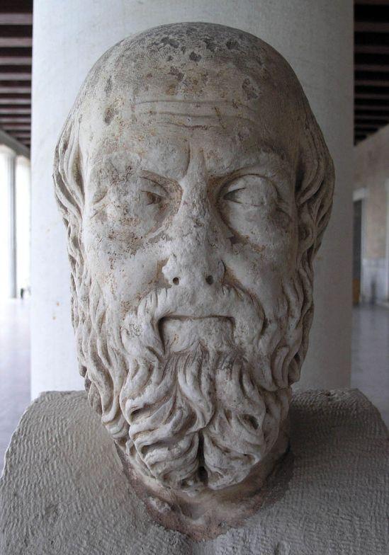 Προτομή του Ηροδότου στη Στοά του Αττάλου, Αθήνα_wikipedia