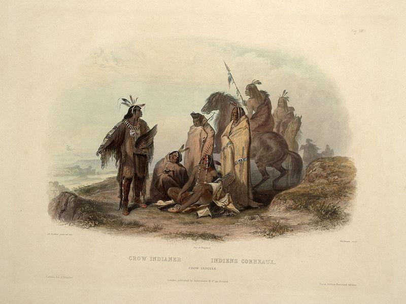 Crow indians_Charles Bodmer_Βιβλιοθήκη Κογκρέσου_wikipedia