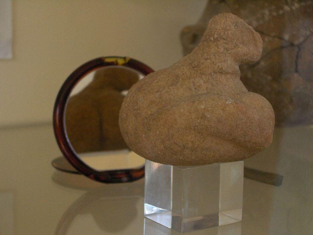 Ειδώλειο παχιάς Κυρίας στο Αρχαιολογικό Μουσείο Πάρου εύρημα από την νήσο Σάλιαγκο. Στα ερείπια του οικισμού βρέθηκε μεγάλος αριθμός κεραμικών θρυμμάτων. Σχεδόν 3,5 τόνου του κεραμικού υλικού μελετήθηκε από τους επιστήμονες, που κατόρθωσαν να συναρμολογήσουν 60 πήλινα δοχεία και σκεύη ολικά ή εν μέρει. Το υλικό κατασκευής των πήλινων δοχείων προέρχεται από την περιοχή. Μερικά από τα σκεύη (περίπου 12%) έχουν εξαιρετικά λεία επιφάνεια και πρόκειται μάλλον για σκεύη που χρησίμευαν ως πιάτα για το φαΐ. Ένα 10% είναι ποτήρια ή κανάτες, ενώ τα υπόλοιπα είναι πιατέλες, πιάτα και κεσεδάκια. Ο πηλός έχει διάφορα χρώματα και αποχρώσεις κίτρινου, καφετί ή γκρι σκούρο και τα περισσότερα είναι διακοσμημένα με άσπρες ζωγραφιές γεωμετρικών σχηματισμών μεγάλης ποικιλίας. Που και που έχουν και διακοσμητικές αποτυπώσεις ή επικολλήσεις. Δυο μαρμάρινα θρύμματα μαρτυράν ότι σπάνια υπήρχαν και πολυτελή σκεύη.Επίσης βρέθηκαν τρία ειδώλια από μάρμαρο. Το ένα παριστάνει μια θεότητα της γονιμότητας με μορφή πολύ παχιάς γυναικείας σιλουέτας. Τα άλλα δύο ειδώλια έχουν μορφή πιο αφηρημένης τέχνης και θυμίζουν το σχήμα που έχει το βιολί. Το σχήμα αυτό θα παραμείνει σε χρήση για τα επόμενα 1000 χρόνια ακόμα και στα γύρω νησιά ως την εποχή του χαλκού. Εκπληκτικά είναι ο μεγάλος αριθμός και η ποικιλία των ευρημάτων του οικισμού. Βρέθηκαν περισσότερα από 25.000 εργαλεία από οψιανός, μεταξύ τους και 1100 λεπίδες που κατασκευάστηκαν στο νησί, ενώ το υλικό προέρχεται από τη Μήλο που απέχει 60 χιλιόμετρα, σπάνια δε και από το Γυαλί των Δωδεκανήσων, που σημαίνει ότι γινότανε εμπόριο σε ακτίνα σχεδόν 200ων χιλιομέτρων. Τα εργαλεία χρησιμοποιούνταν για ξύσιμο, ή είναι λεπίδες ή αιχμές. Οι αιχμές χρησιμοποιούνταν μάλλον σε τρίαινες για το ψάρεμα, αφού στο νησί δεν βρέθηκαν βέλη για τόξο. URL-https://el.wikipedia.org/wiki/Σαλιαγκός_Αντιπάρου