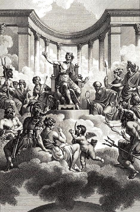 Οι Δώδεκα Ολύμπιοι, έργο του Monsiau, 18ος αιώνας