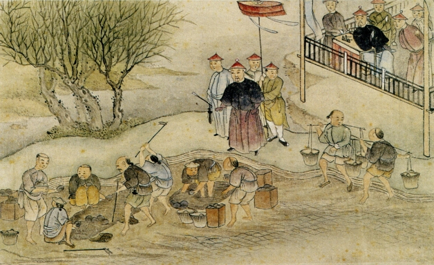 """Commissioner Lin and the Destruction of the Opium in 1839"" Chinese artist Hong Kong Museum of Art [1839_LinDestrOp_165pc_hkma]"